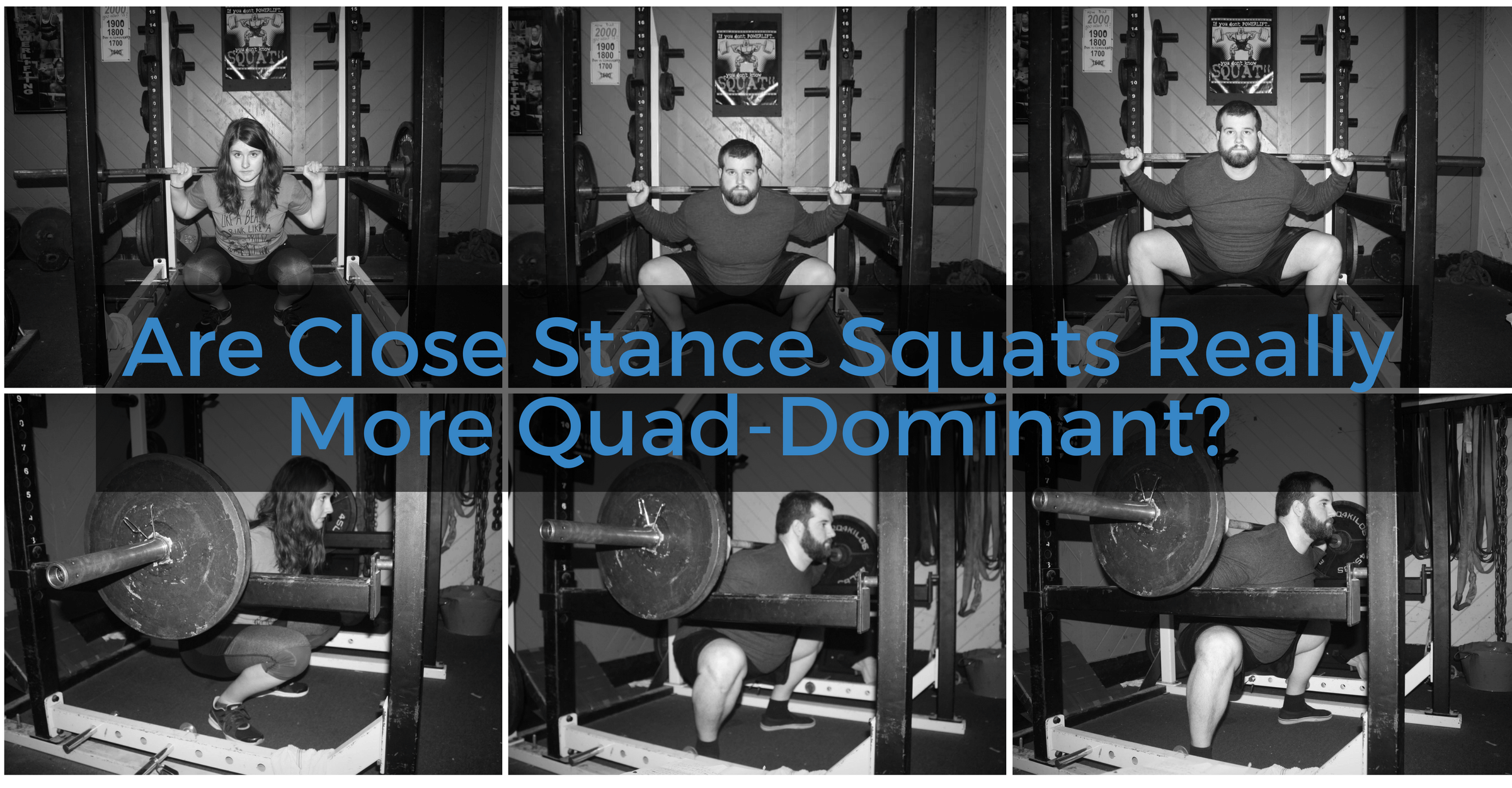 Are Close Stance Squats Really More Quad-Dominant